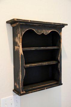 Shabby style wall shelf primitive wall shelf by LynxCreekDesigns, $129.99