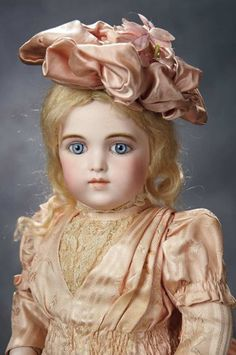 French Bisque Bebe by Leon Casimir Bru, Original Costume and Signed Bru Shoes 14,000/19,000