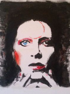 David Bowie / Ziggy Stardust Original Painting, Canvas Abstract, Music, Art, Signed by Artist by FreehandOnlyArt on Etsy