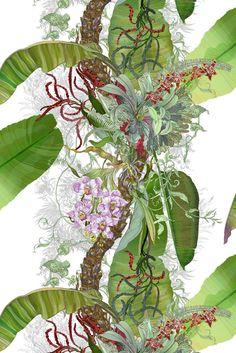 Timorous Beasties Fabric - Topical Tropical. Shop - Timorous Beasties - CRAZY BEAUTIFUL things here!!!