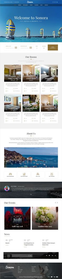 Sonora is a clean and modern design responsive #WordPress theme for #hotels and #resorts booking beautiful website to download & live preview click on image or Visit  #hospitality #webdev