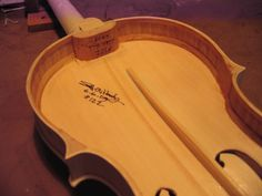 how to build a violin bow rehairing jig | The inside is signed and dated for those repairing my work 300 years ...