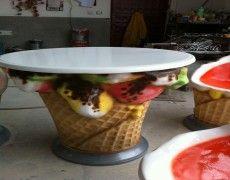 Dondurma Masa Maketi Planter Pots