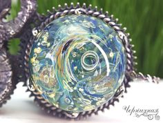 "Ready to ship. Lampwork and silver plated brass pendant ""Aries"" by AnnaBronze on Etsy"