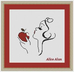 Cross Stitch Pattern Disney Snow White Princess Apple Counted Cross Stitch Pattern/Instant Download Epattern PDF File