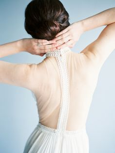 sheer back, gorgeous gown by Alon Livine White | photo by Taylor Lord