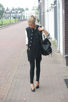 Baseball jacket outfit - fashion blogger // adore the baseball jacket w B.