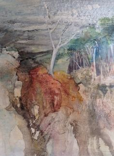 Ghost gum - Penny Steynor - watercolour All Flowers, Watercolors, Art Work, Watercolor Paintings, Mountain, Trees, Colour, Studio, Expressionism