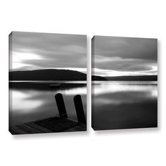 Still Waters by Steve Ainsworth 2 Piece Photographic Print on Gallery Wrapped Canvas Set