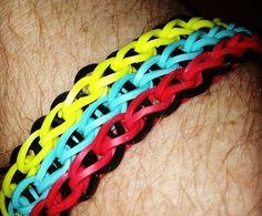 Rainbow Loom Bracelet Patterns | Rainbow Loom Triple Single FCBarcelona