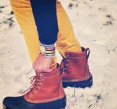 Bean boots preppy summer wind inspiration