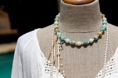 Amazonite and Leather Necklace with Diamond Cross, Beach Chic, Pave Diamonds, Deerskin Leather, Knotted Suede, Bohemian, Organic, Layerable by HappyGoLuckyJewels on Etsy https://www.etsy.com/listing/475875927/amazonite-and-leather-necklace-with