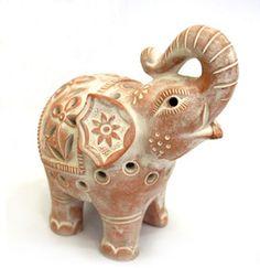 A little elephant tea light for luck!