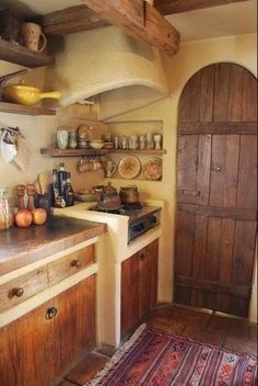 The Stylish Gypsy — voiceofnature: Fairytale like kitchen, see more...