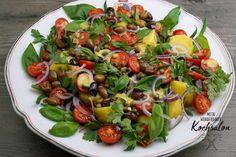 Mein wunderbarer Kochsalon Cobb Salad, Weight Loss, Meals, Food, Salads, Olives, Side Plates, Apple, Meal
