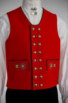 FANA014 Folk Costume, Costumes, Color Shapes, Norway, Monogram, Vest, Colours, Jackets, Outfits