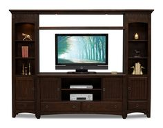 Arts & Crafts Dark II Entertainment Wall Units Collection - Value City Furniture - $399.99 for TV Stand - $1,199.96 for 4 pc unit