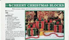 Noel Christmas Blocks in Plastic Canvas by TamarasTraditions on Etsy