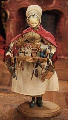 Antique peddler doll