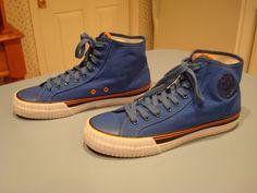 Men's PF Flyers Center High Solid Royal Blue & Orange Canvas Sneakers, Sz US 10  #PFFlyers #HighTopSneakers