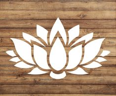 Lotus Flower Decal Lotus Flower Sticker Yoga by WildRaccoonVinyl Lotus Flower Art, Watercolor Flower, Lotus Flower Design, Stencil Flor, Motif Vector, Logo Fleur, 3d Laser Printer, Meditation, Yeti Decals