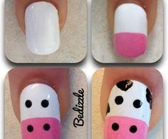 Cute & Easy Cow Nails