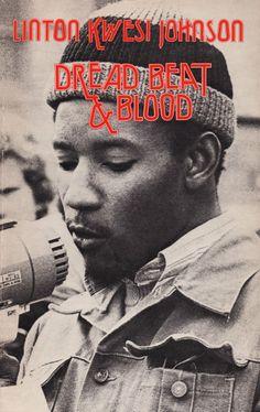 """LINTON KWESI JOHNSON. """"Dread, Beat & Blood"""" book cover, '75 © Bogle-L'Ouverture Publications"""