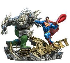 Estatua SUperman Vs Doomsday 1/6 Battle Diorama - Iron Studios