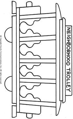 Mister Rogers' Neighborhood . Trolley printable | PBS KIDS