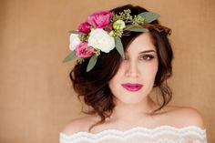 half-wreath for a bride