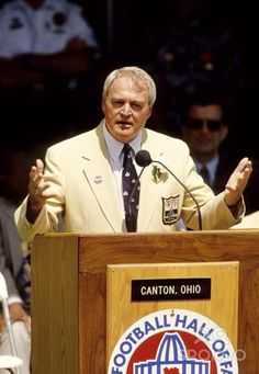 Steelers Head Coach Chuck Noll giving his Hall of Fame induction speech (1993).