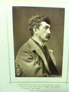 ■ HAWKINS, Louis Welden (French 1849-1910) - Undated photograph - musèe d'Orsay Archives / The text under the photo illegible. Here is what was read: HAWKINS (L.Welden), [ue] a Stuttgart, de parents anglais Medaille 3 classe 1881 eleve de [MCM] Bouguereau, J.Lefevre et Boulangeu Paris, 6, [......] ■ Фотография Луиса Велдена ХОУКИНСА, даты нет. Текст под фотоснимком нечёткий. Удалось разобрать следующее (см. выше)