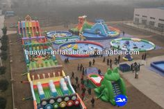 Giant Fun City Inflatable Water Park With Giant Obstacle Water Slides Swimming Pool Water Games Toys Inflatable Sports For Sale $5000~$50000