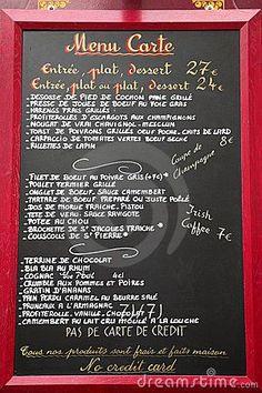 French Language Menu, Paris, France en.wikipedia.org/...