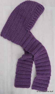 Blustery Day Hooded Scarf for Kids - Kids will love this crochet hooded scarf.
