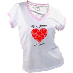 T-shirt pour femme personnalisé - Cœur poupepoupi.com