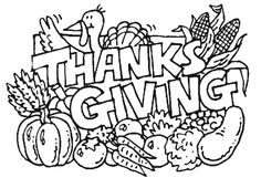 Thanksgiving-Coloring-Page.png 900×650 pixels