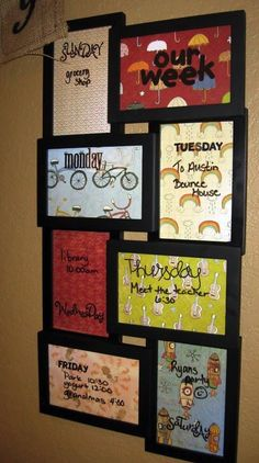 "Use picture frames from The Dollar Store, Put in your own backgrounds and use erasable markers. | Courtesy of ""Stubborn's Place"" / Facebook"