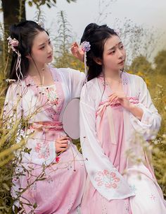 Chinese Traditional Hanfu Dress Ancient Chinese Lady Costumes and Headpieces…