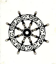 ships wheel tattoo - Google Search