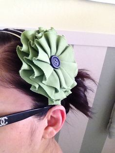 Super cute canvas hair clip from The Splendidly Imperfect Miss M!  Great use of a Canvas Corp flower!