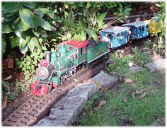 LGB model trains that run through your garden (Outside) Ho Trains, Model Trains, Escala Ho, Electric Train Sets, Garden Railroad, Miniature Plants, Model Train Layouts, Models, Fairy Houses