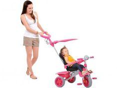 Triciclo Infantil com Empurrador Smart Comfort - Bandeirante com as melhores condições você encontra no Magazine Vrshop. Confira!