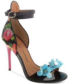 Chinese Laundry Lullaby Two-Piece Flower Beaded Sandals - Not Your Basic Pump - Shoes - Macy's