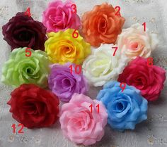 "30 pcs/lot 10cm 4""  Life Like Silk Rose Flowers Rose Heads For Pomander Kissing Ball Floral Wedding Arrangement Flower Supplies"