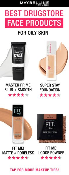 Stay shine-free and have your makeup last all day with these Maybelline essentials! Prep skin with the Master Prime primer, apply Super Stay Foundation or Matte + Poreless as your base and set your look with the Fit Me Loose Finishing Powder. Which one of these Maybelline products is your go-to?