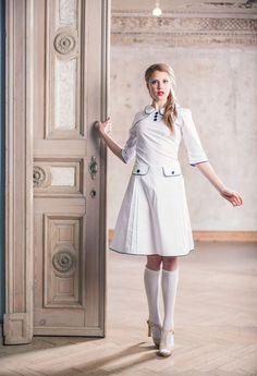 Brautkleider - Weisses 60er Jahre Hochzeitskleid  - ein Designerstück von Peppermint_Patty bei DaWanda