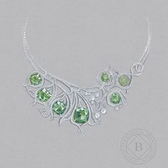 From the #BoodlesArchive: the legendary 'Greenfire' necklace caused a sensation with its #emeralds in 2014. Green stones and foliage form a significant part of Boodles design language. #ThePoetryOfLandscape