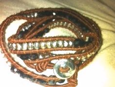 Multi Color Wrap with Silver Clasp  Stutz Collections