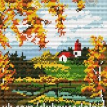 Gallery.ru / Все альбомы пользователя denise10 Cross Stitch Flowers, Cross Stitch Patterns, Painting, Scenery, Dots, Embroidery, Projects, Painting Art, Paintings